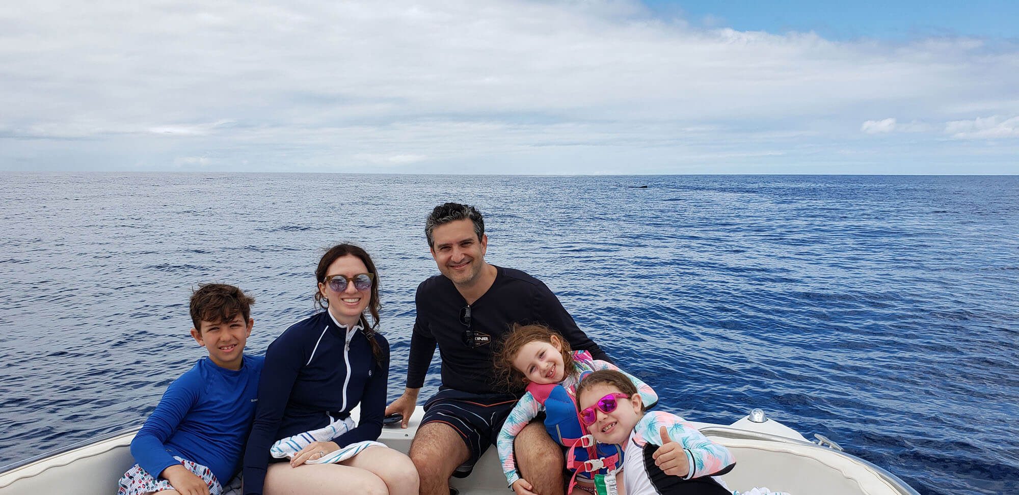 Family With a Whale in the Background